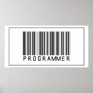 Programador del código de barras póster