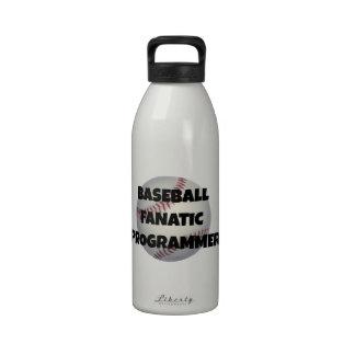 Programador del fanático del béisbol botella de agua