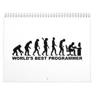 Programador del mundo de la evolución el mejor calendario