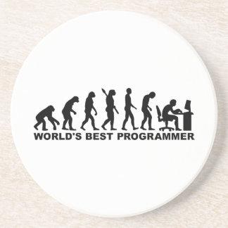Programador del mundo de la evolución el mejor posavasos para bebidas