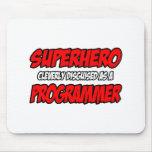 Programador del super héroe… alfombrillas de ratón