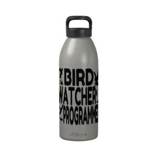Programador del vigilante de pájaro botella de agua reutilizable