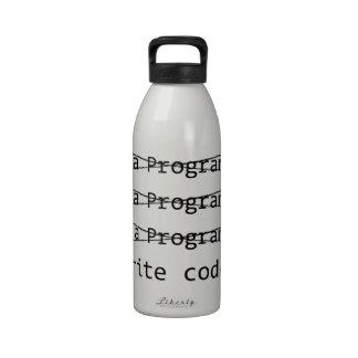 Programador divertido botella de agua reutilizable