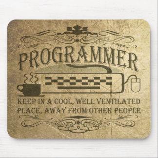 Programador divertido mousepad