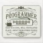 Programador divertido tapete de raton