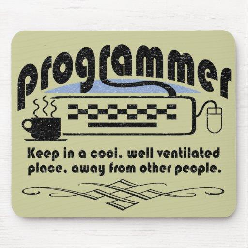 Programador divertido tapetes de ratón