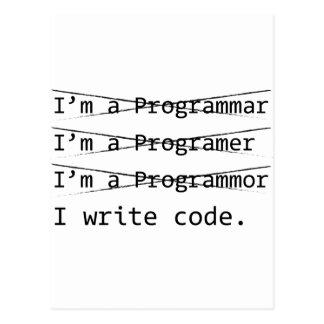 Programador divertido postal