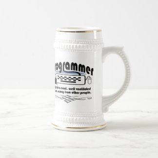 Programador divertido jarra de cerveza
