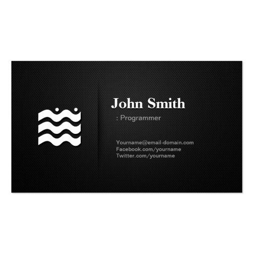 Programador - icono cambiable superior tarjetas de visita