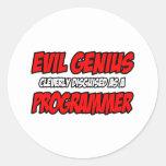 Programador malvado del genio… etiquetas redondas