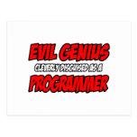 Programador malvado del genio… postales