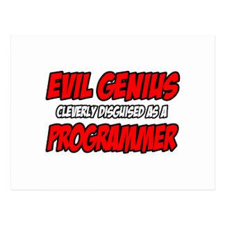 Programador malvado del genio… tarjeta postal