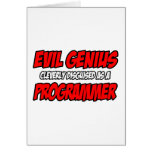 Programador malvado del genio… tarjeton