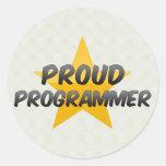 Programador orgulloso pegatina redonda