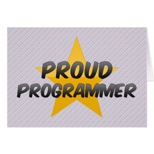 Programador orgulloso tarjeta