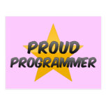 Programador orgulloso tarjeta postal