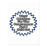Programador… porque dije tan tarjeta postal
