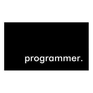 programador tarjeta de visita