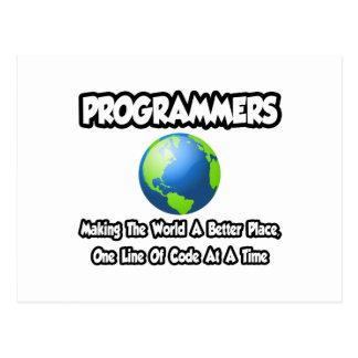 Programadores… que hacen el mundo un mejor lugar postales