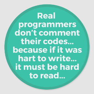 Programadores reales pegatina redonda