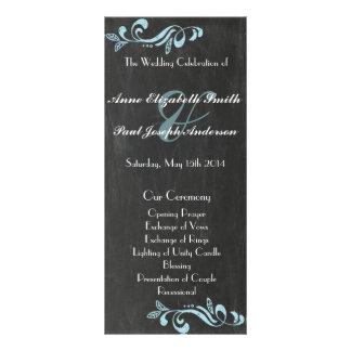 Programas azules del boda del damasco de la pizarr lonas publicitarias