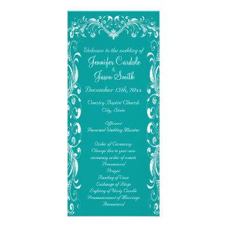 Programas azules del boda del trullo elegante del  diseño de tarjeta publicitaria