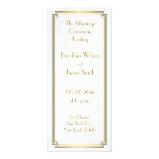 Programas blancos del boda del gran de Gatsby oro Lona