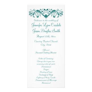 Programas blancos del boda del trullo del Flourish Lonas Personalizadas