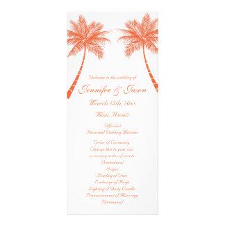 Programas coralinos tropicales del boda de playa d tarjeta publicitaria a todo color