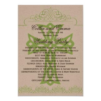 Programas cruzados del boda invitación 12,7 x 17,8 cm