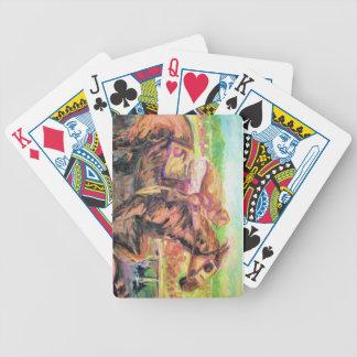 Programas de carreras del caballo baraja de cartas bicycle