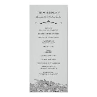 Programas de la ceremonia de boda invitación 10,1 x 23,5 cm
