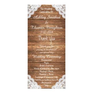 Programas de madera del boda de Brown del cordón Lonas Publicitarias