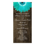 Programas de madera rústicos del boda de la lona