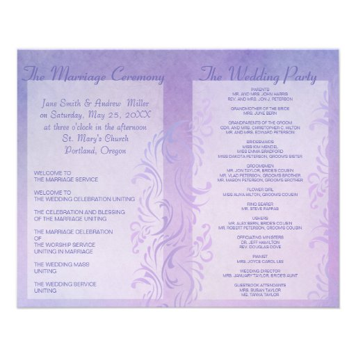 Programas del boda - ciruelo tarjeta publicitaria