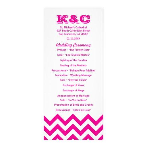 Programas del boda de Chevron Diseño De Tarjeta Publicitaria