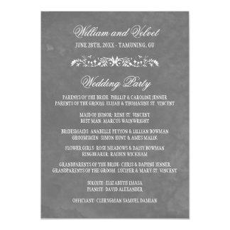 Programas del boda de la acuarela invitación 12,7 x 17,8 cm
