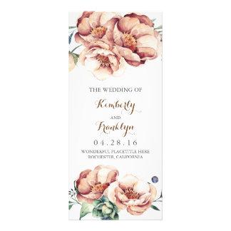 programas del boda de la caída de la acuarela de plantilla de lona