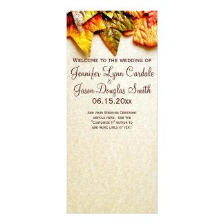 Programas del boda de la caída de las hojas de oto lona