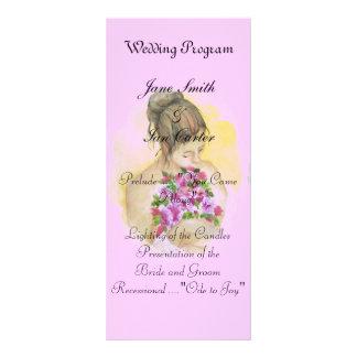 Programas del boda de la novia tarjetas publicitarias personalizadas