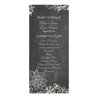 programas del boda de la pizarra de la tipografía diseño de tarjeta publicitaria
