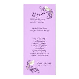 Programas del boda de la púrpura/de la lavanda de  diseños de tarjetas publicitarias