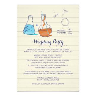 Programas del boda de la química invitación 12,7 x 17,8 cm