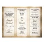 programas del boda de la tipografía del vintage membrete personalizado