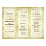 programas del boda de la tipografía del vintage membrete