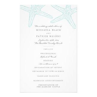"""Programas del boda de las estrellas de mar folleto 5.5"""" x 8.5"""""""