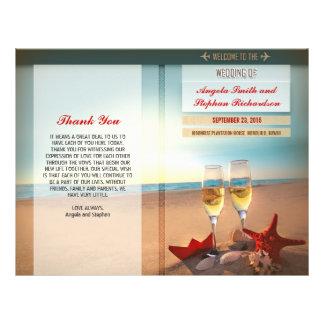 "programas del boda de playa folleto 8.5"" x 11"""