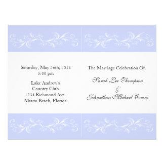 """Programas del boda del bígaro folleto 8.5"""" x 11"""""""