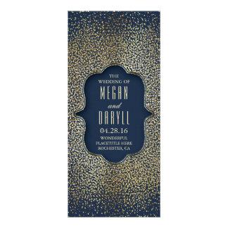 Programas del boda del confeti del brillo de la tarjeta publicitaria personalizada