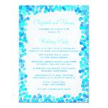 Programas del boda del confeti invitaciones personalizada